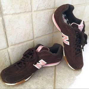 Brown/Pink New Balance trainers sneakers - 7.5